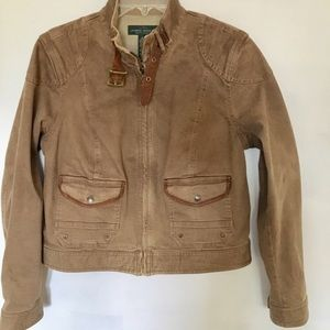 Lauren Ralph Lauren Denim Moto Jacket
